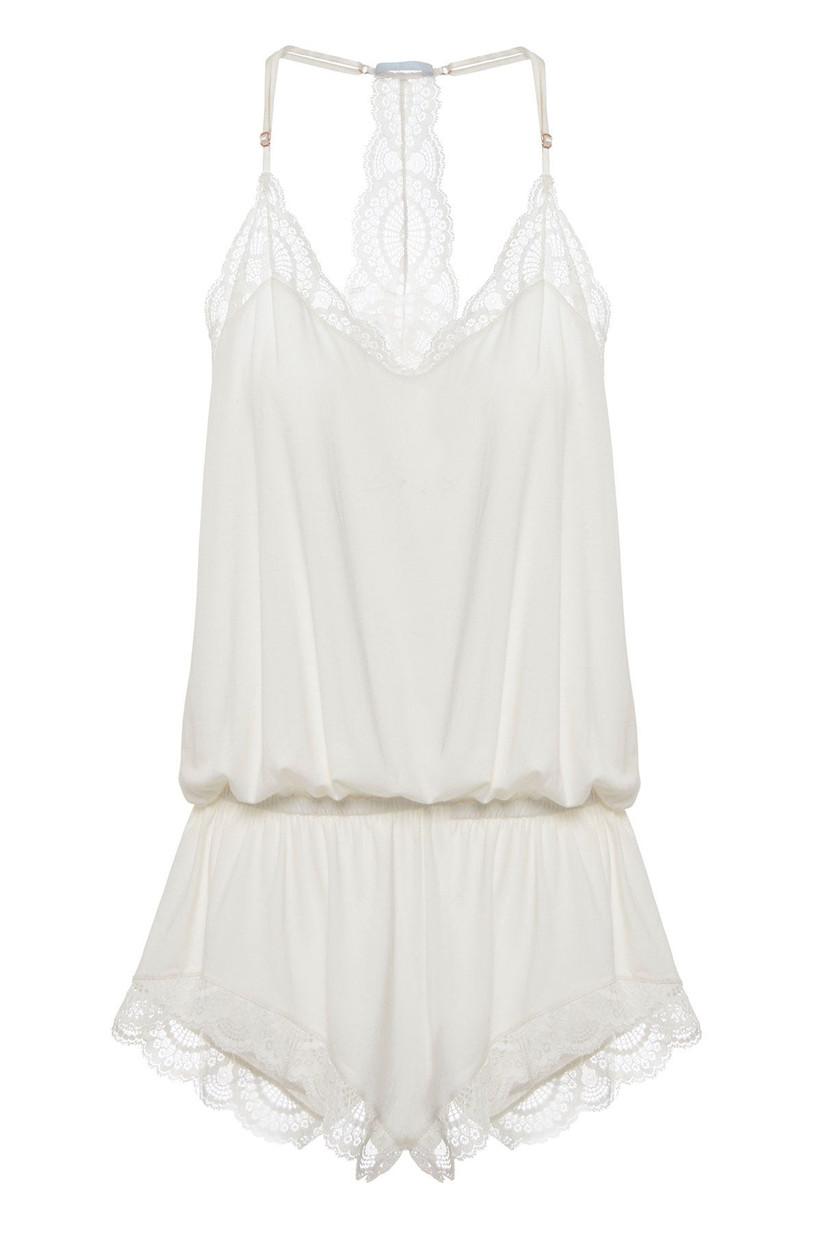 White bridal lingerie teddy