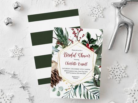 21 Bridal Shower Invitations For Your Winter Wonderland Celebration