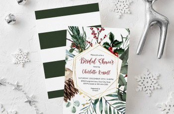 21 Bridal Shower Invitations For Your Winter Wonderland Celebration