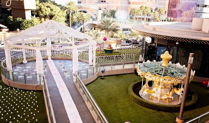 carnival-inspired las vegas wedding chapel
