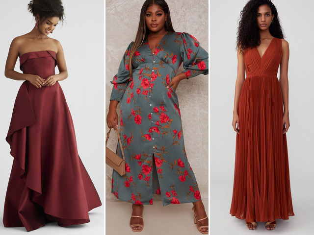 40 Dresses to Wear to a Fall Wedding That Won't Stop You From Dancing