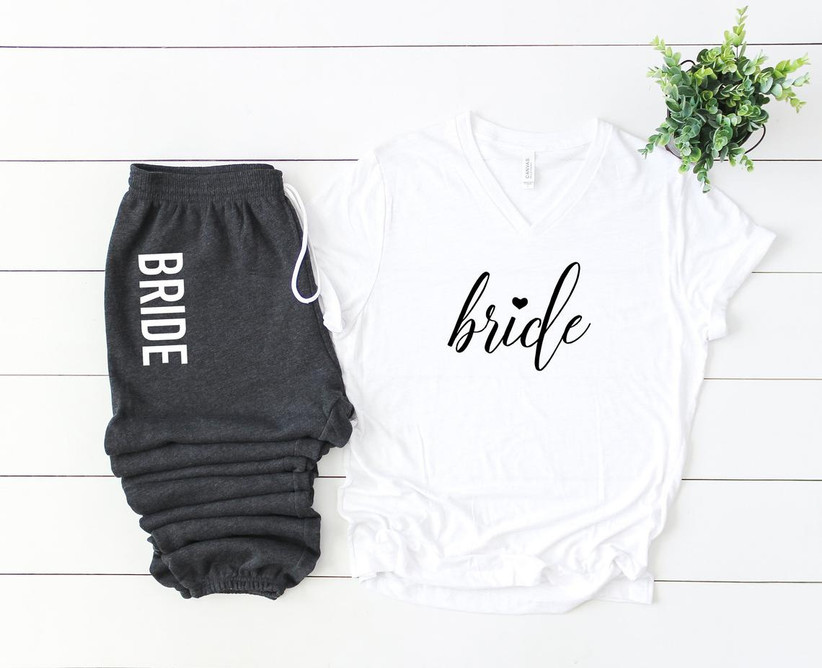 bride shirt and matching sweatpants