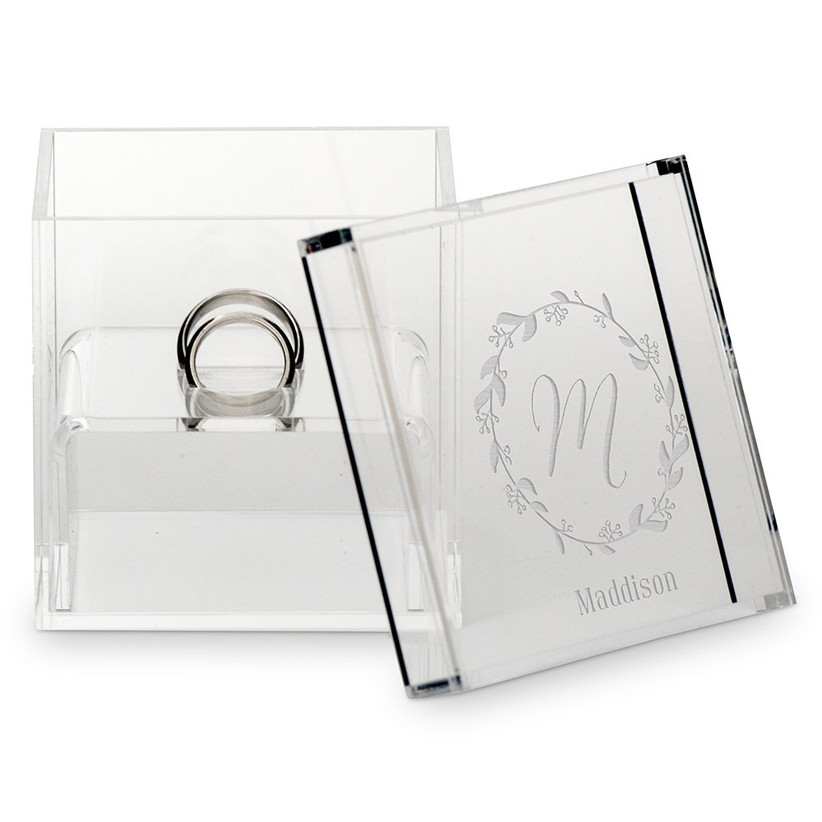 clear ring box