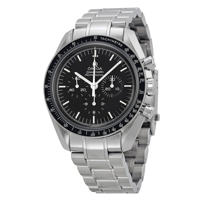 OMEGA Speedmaster moonwatch modern, metallic engagement watch