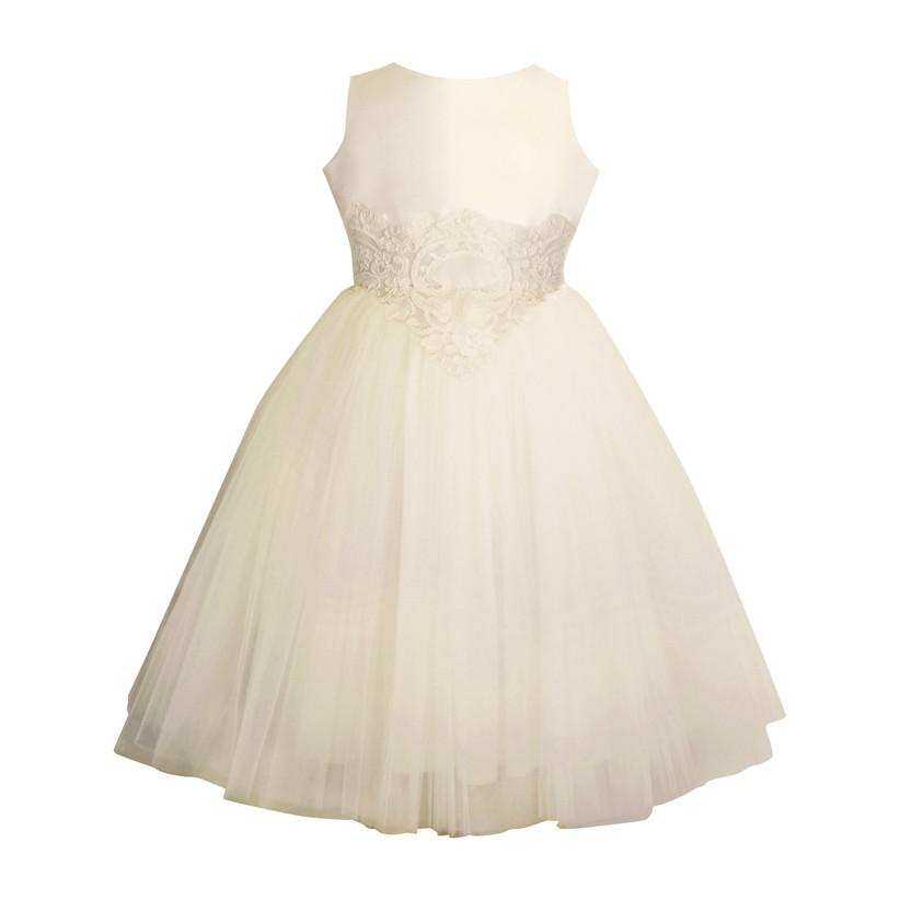 isabel garreton lace and tulle flower girl dress
