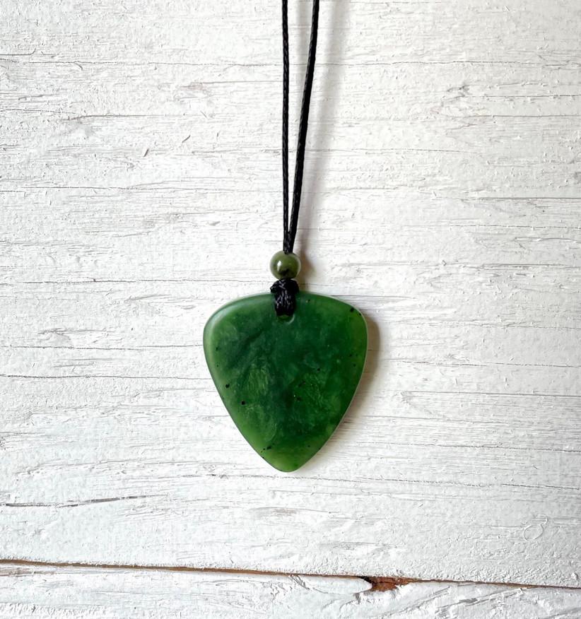 Jade guitar pick 35th anniversary gift idea