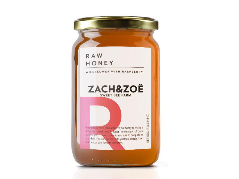 Raspberry flavor honey