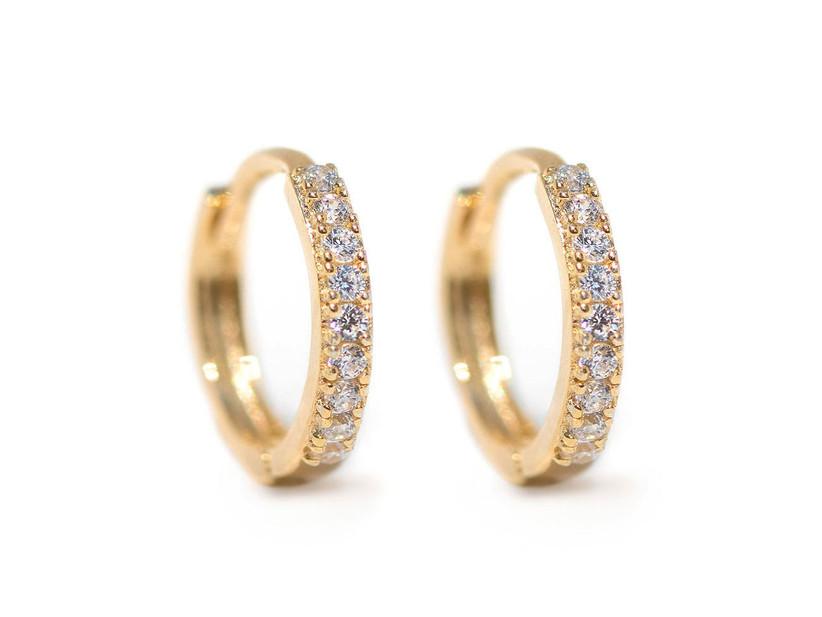 Crystal pavé huggie hoops daughter-in-law jewelry gift