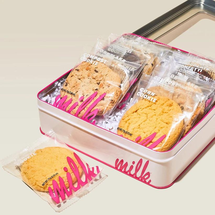 10 year anniversary gift milk bar cookie tin