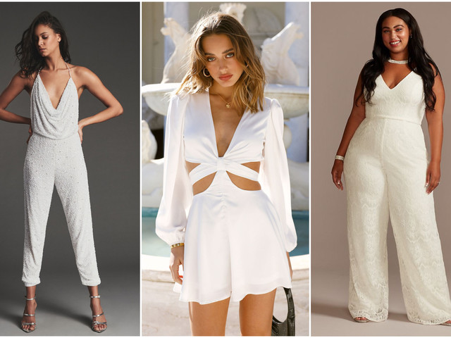 33 Bridal Jumpsuits & Rompers for Your Elopement or Minimony