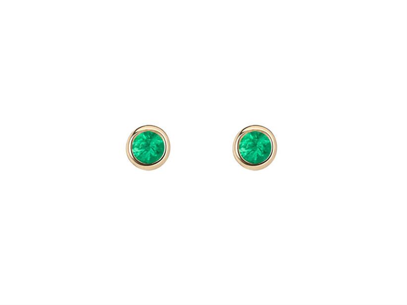 Emerald stud earrings 55th anniversary gift