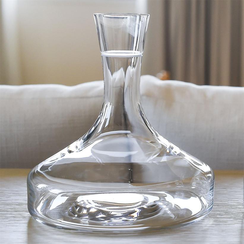Unique glass wine decanter 55th anniversary gift