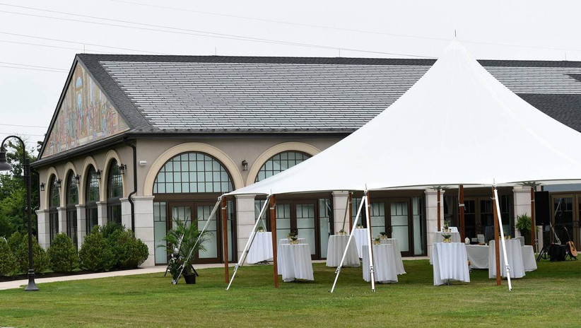 tent outside of banquet hall
