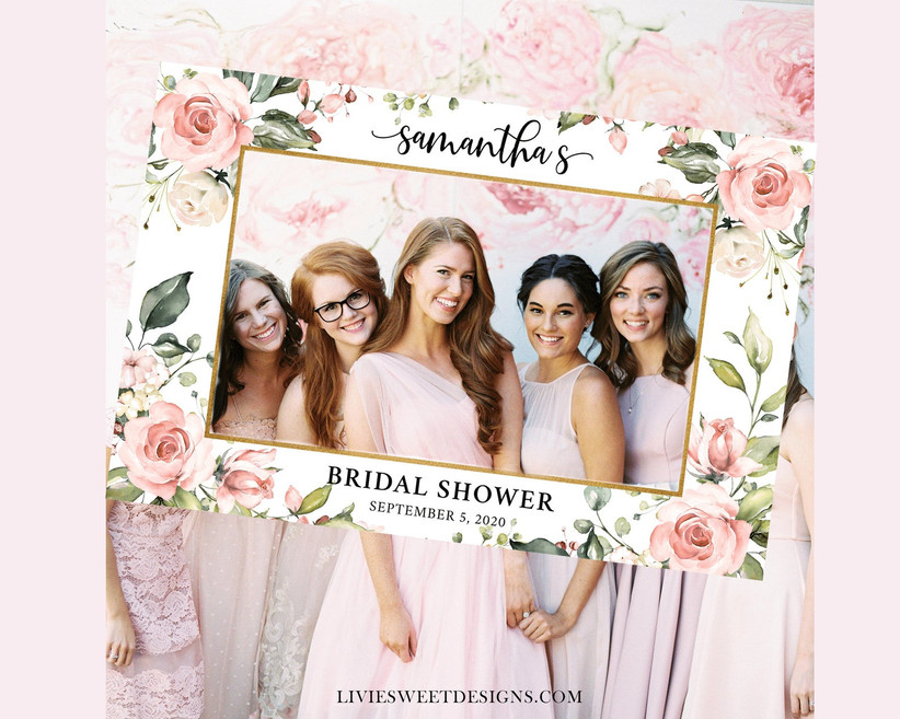 bridal shower photo prop