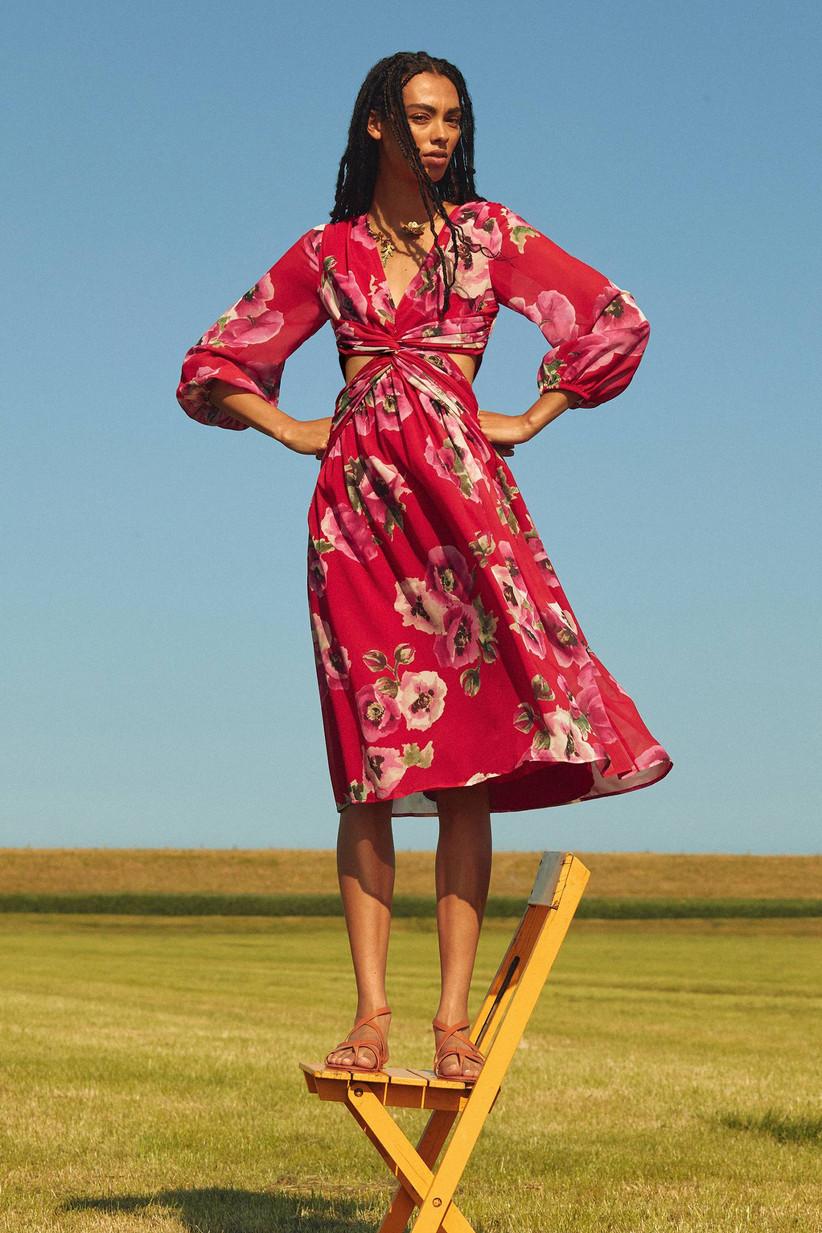 Anthropologie long-sleeve dress