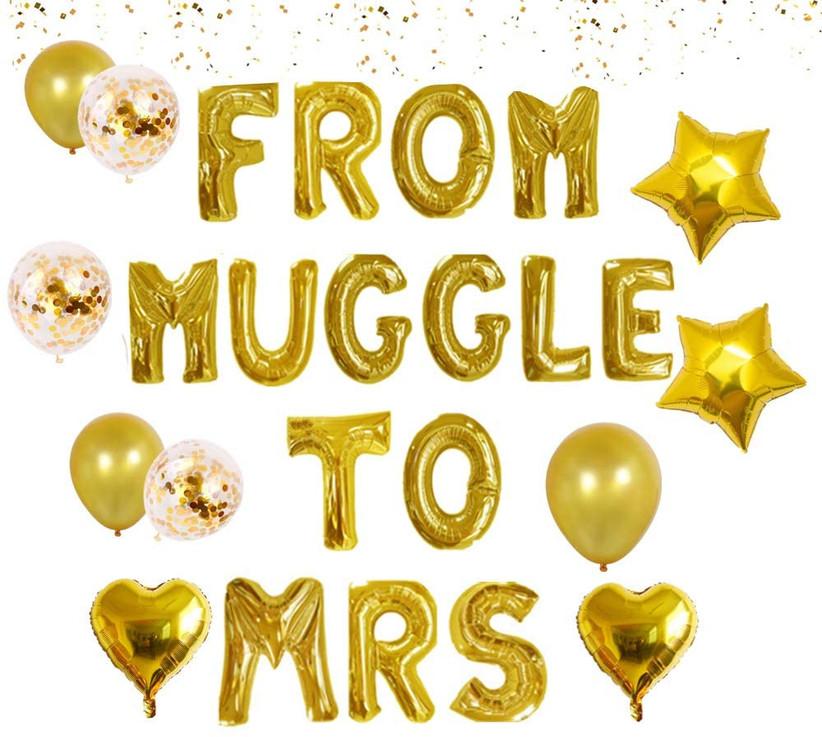 gold mylar balloons that say