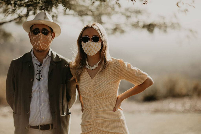 guests wearing face masks
