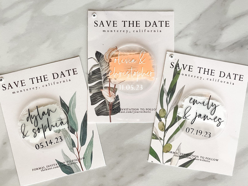 fall save the dates acrylic magnet