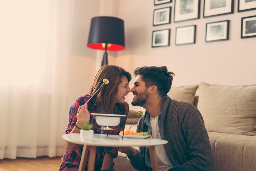 couple eating fondue