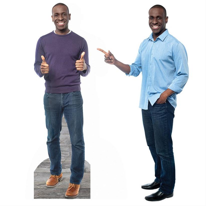 life size cardboard cutout of man