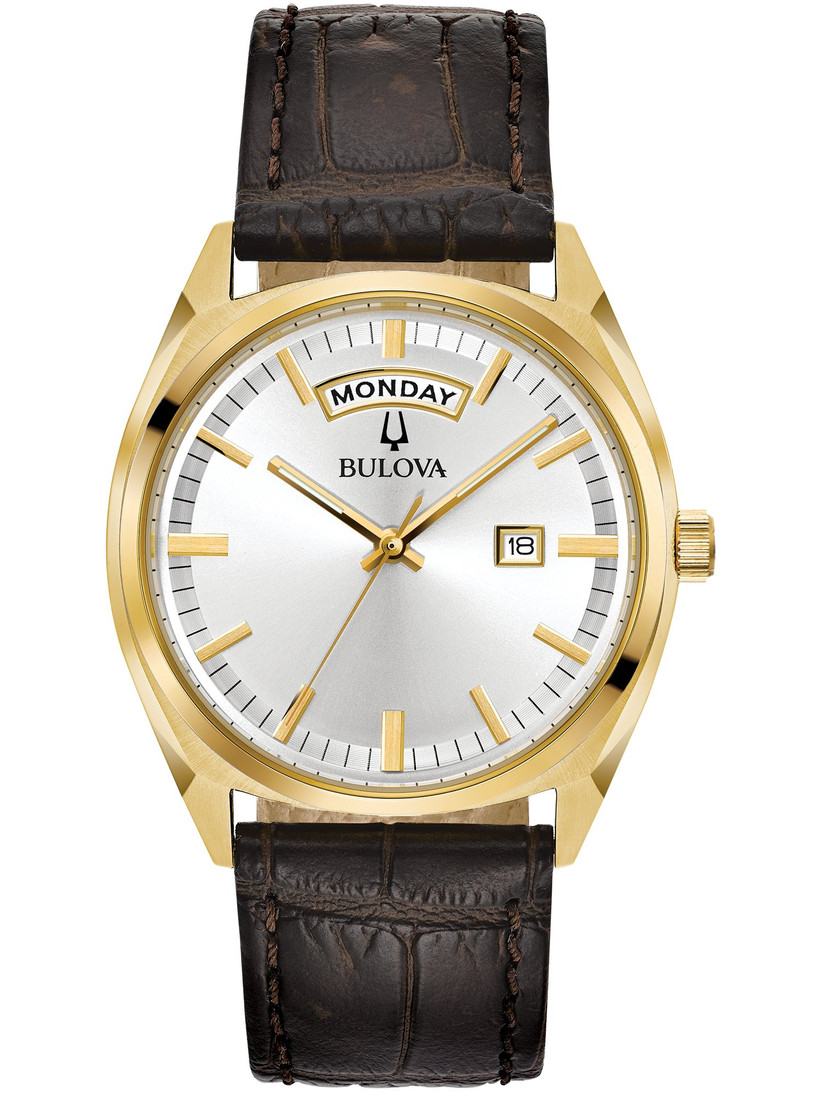 Sophisticated leather-strap watch father of the groom gift