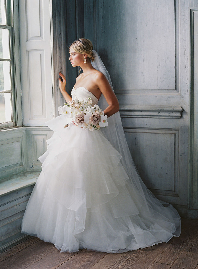 8 Wedding Dress Fabrics Every Bride Should Be Familiar With Weddingwire,Dresses For Weddings Guests Uk