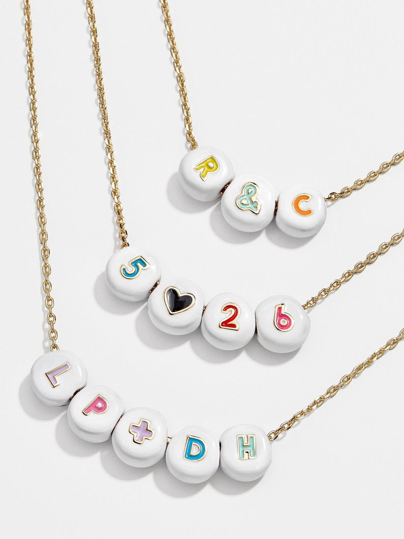 gold chain necklaces with personalized letter charms