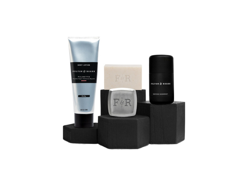Cologne, deodorant, soap, and lotion gift set groomsmen gift idea