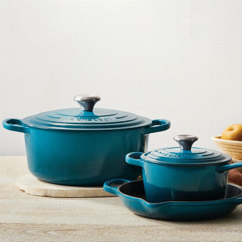 turquoise dutch oven set