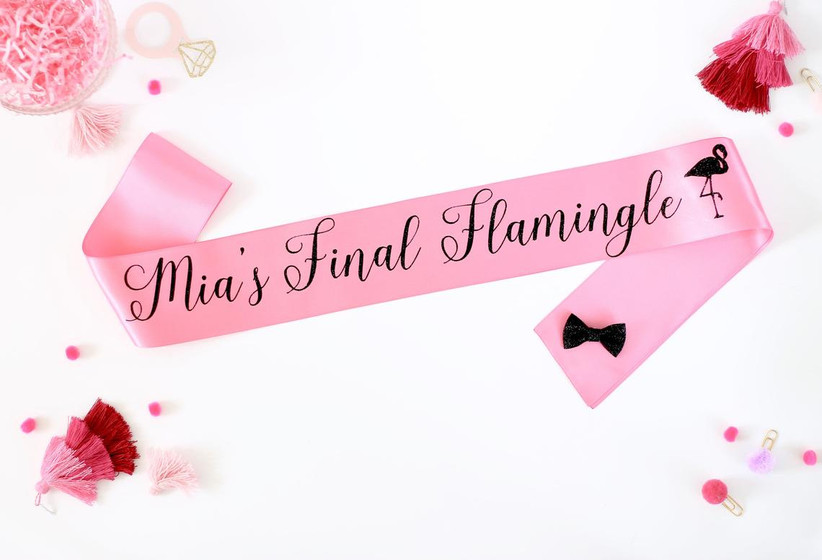 pink bachelorette party sash with