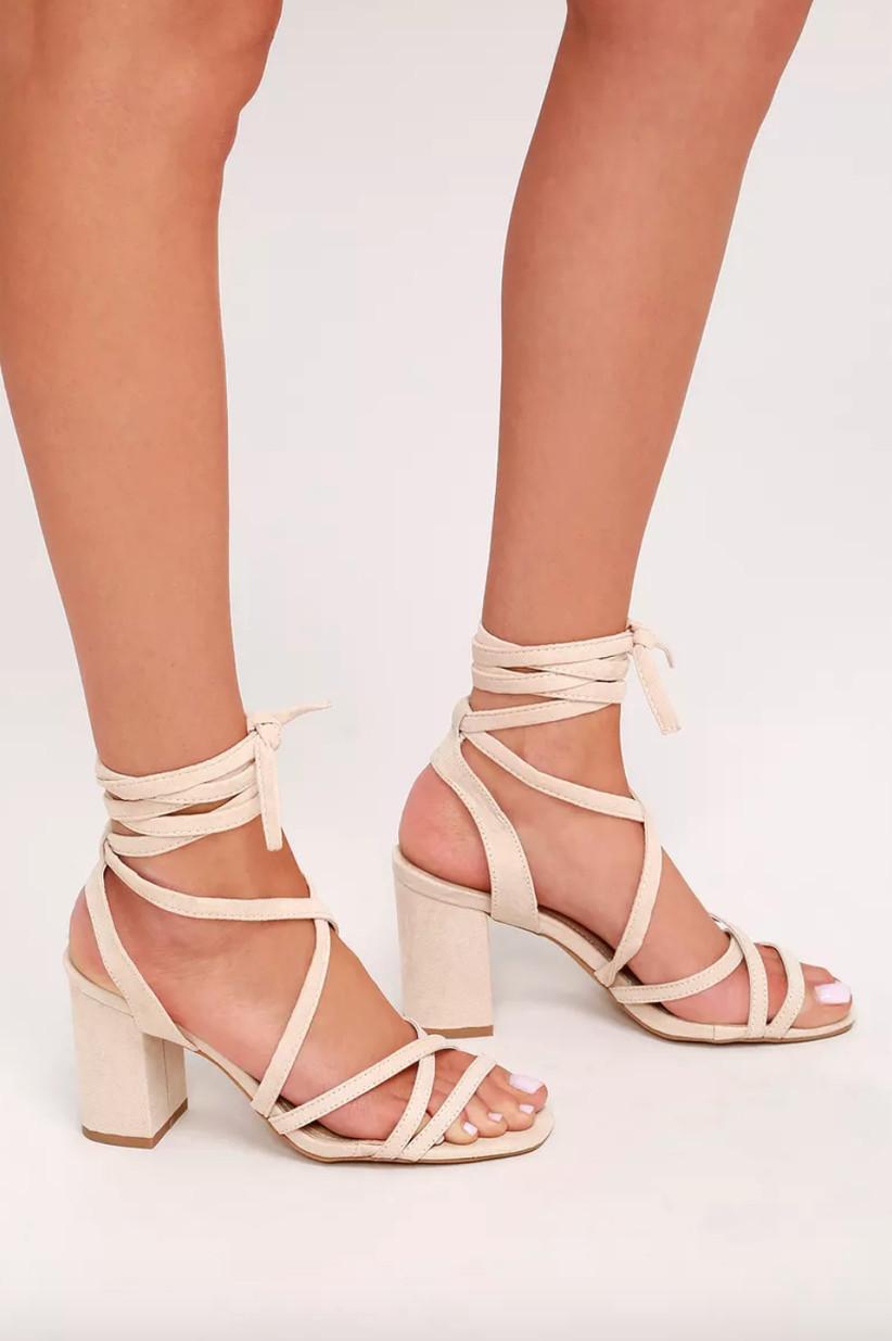 Wedding Guest Shoes tie up heels