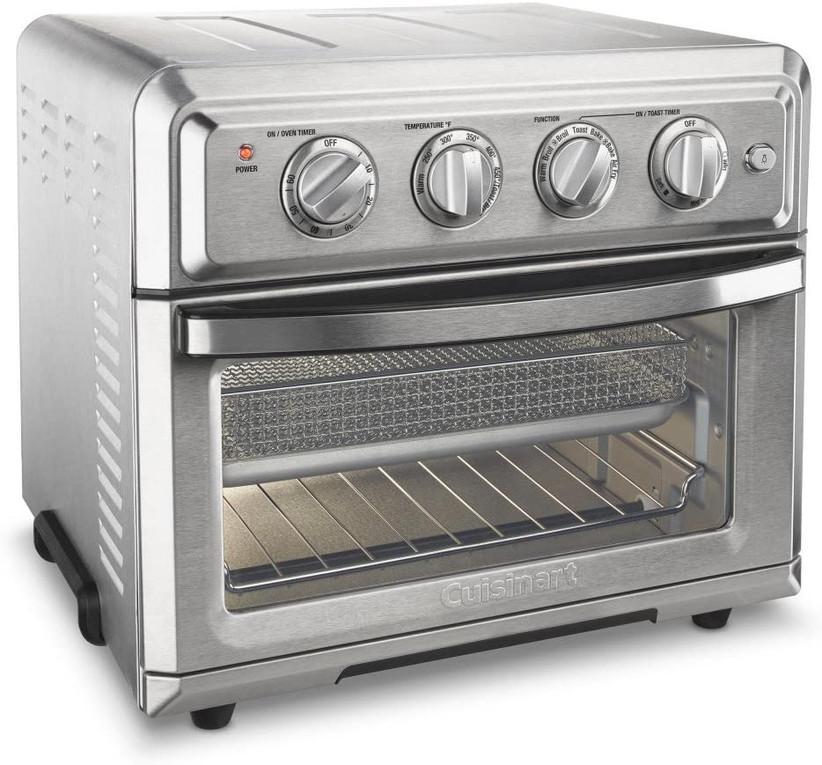 large chrome cuisinart toaster oven