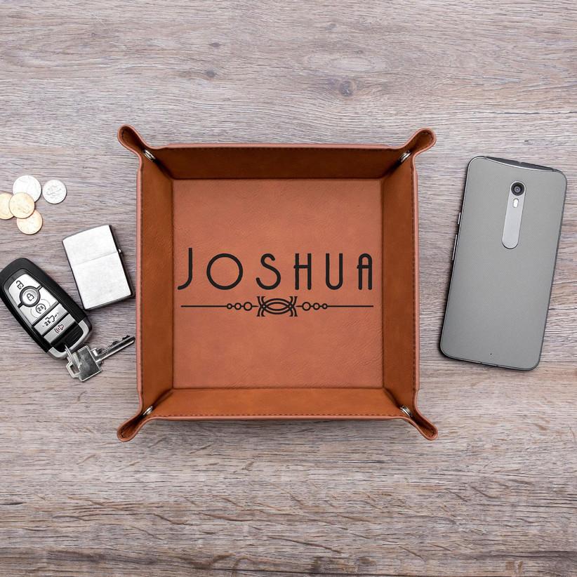 personalized valet tray groomsmen gift idea
