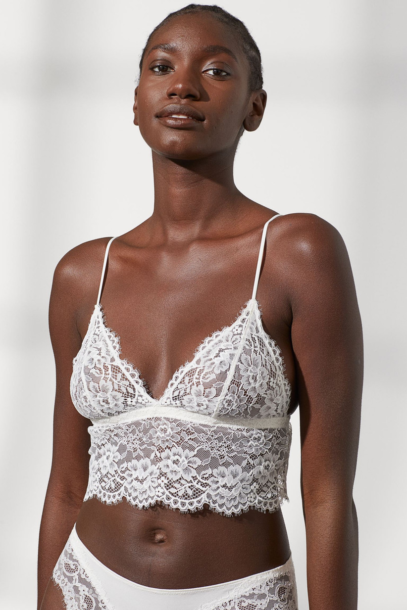 White lace underwear set wedding night lingerie