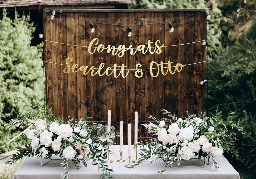 Personalized congrats banner