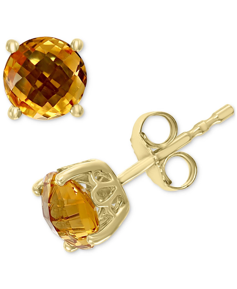 macy's effy collection citrine stud earrings for 13th year wedding anniversary gift