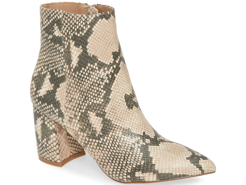 Wedding Guest Shoes snakeskin booties