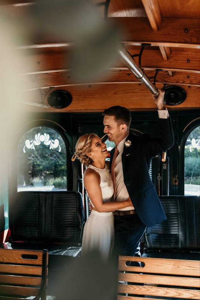 couple in trolley