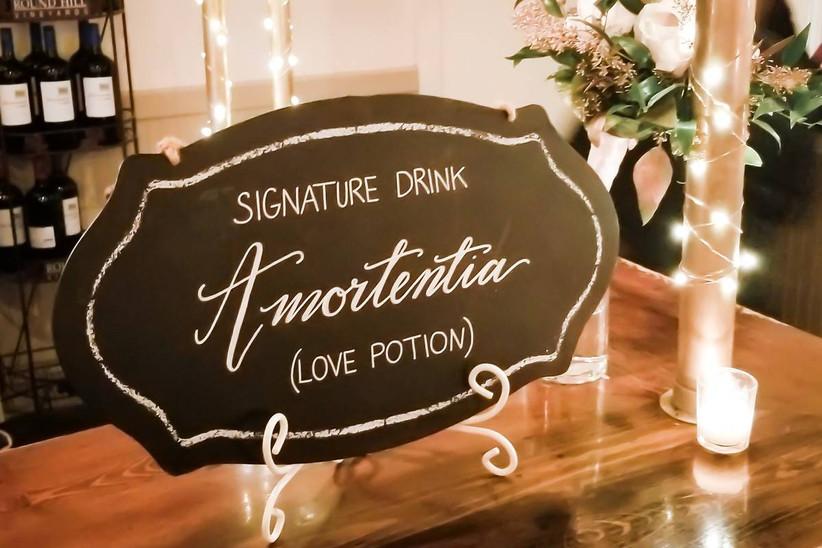harry potter wedding bar menu