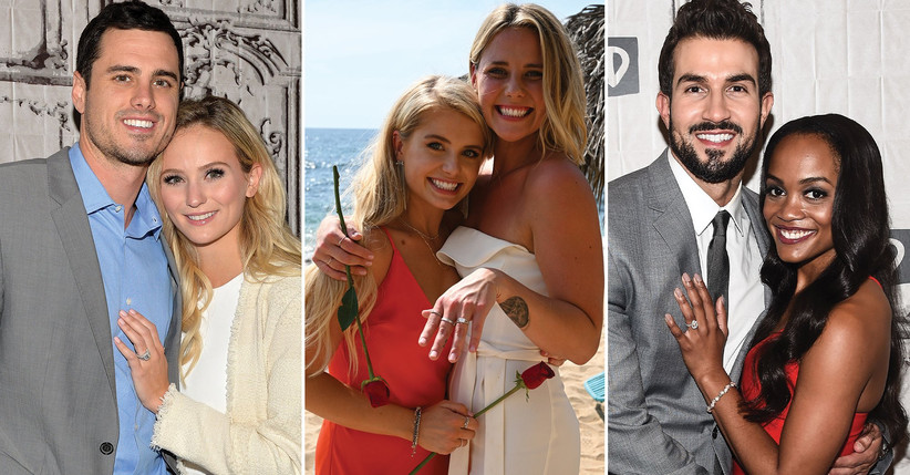 Lauren Bushnell's engagement ring; Kristian Haggerty's engagement ring; Rachel Lindsay's engagement ring