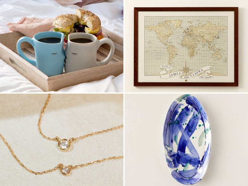 Selection of 18th anniversary gift ideas