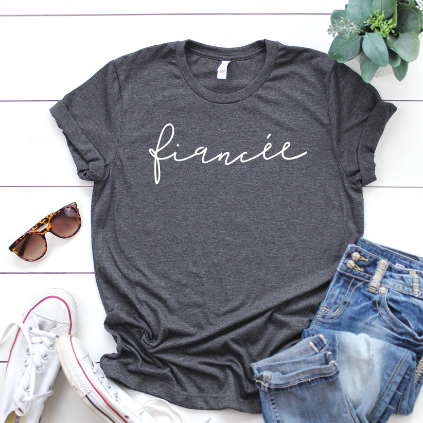 fiancee t-shirt engagement gift idea for bride