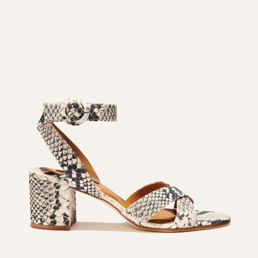 python print block-heel wedding sandal