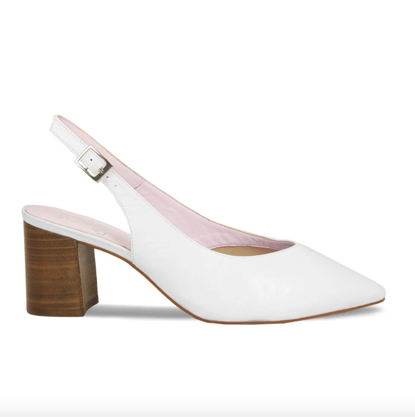 Wedding Guest Shoes white slingback heels