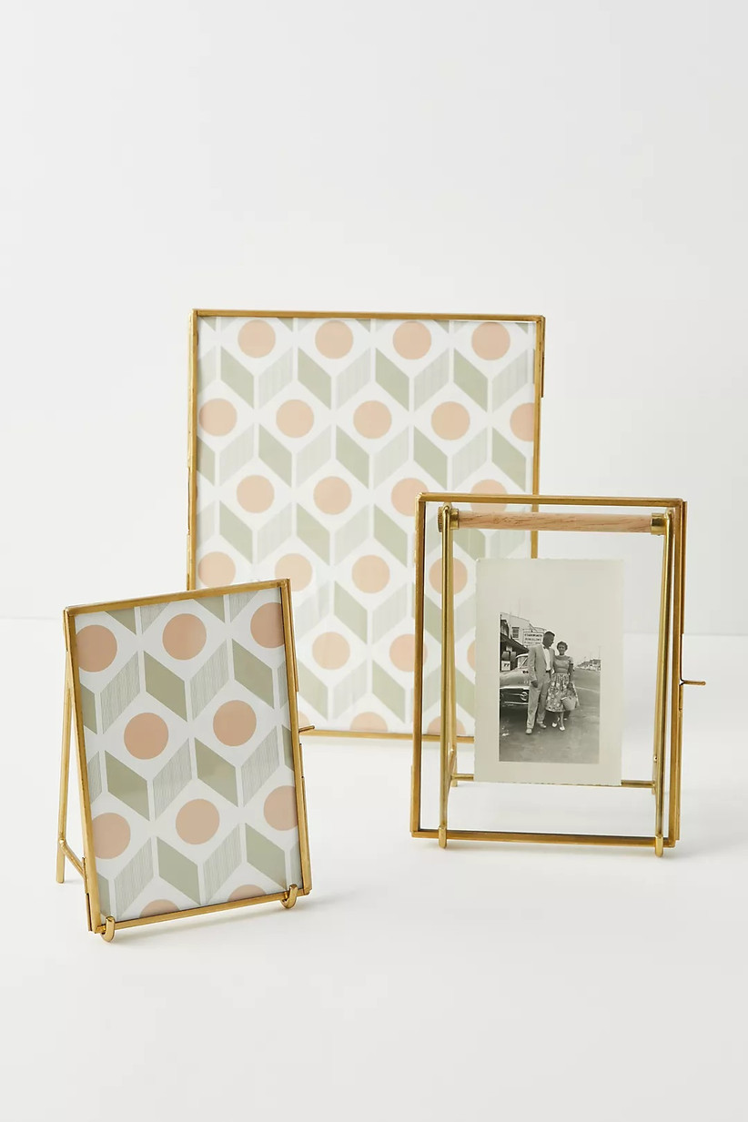 Selection of bronze picture frames in different sizes