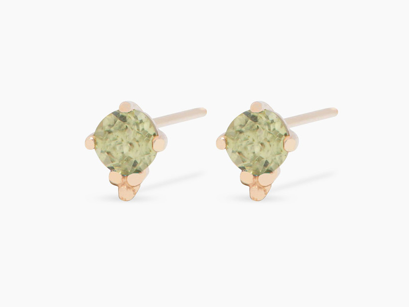 Peridot stud earrings 16th anniversary gifts