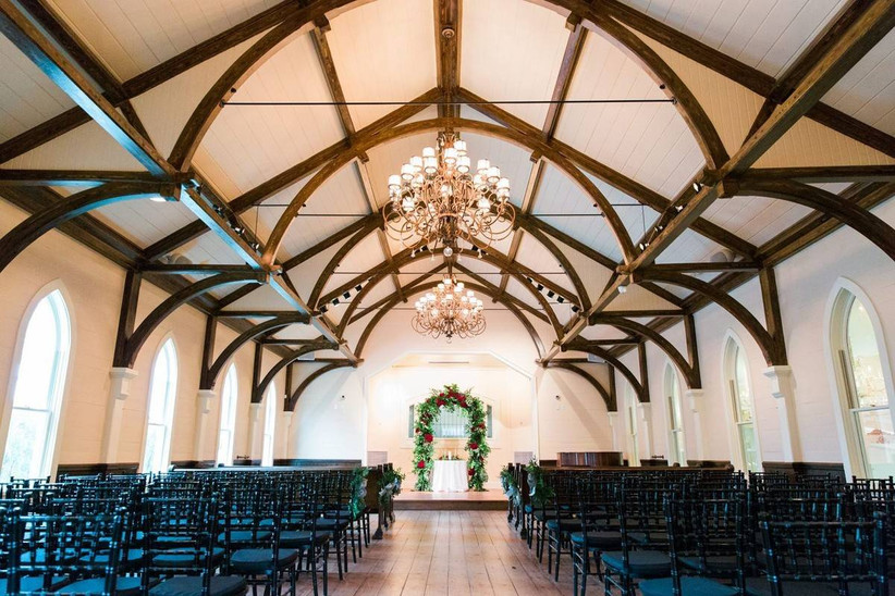 ceremony view at tybee island wedding chapel and grand ballroom