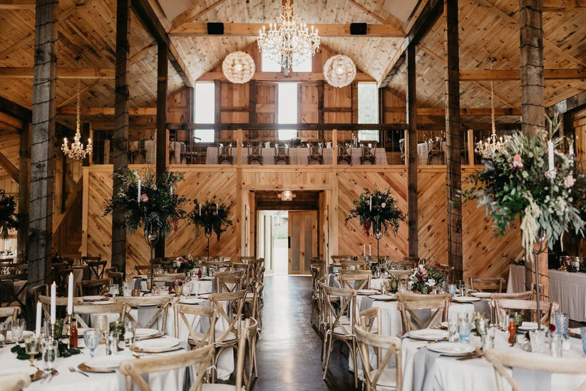 the barn on new river wedding