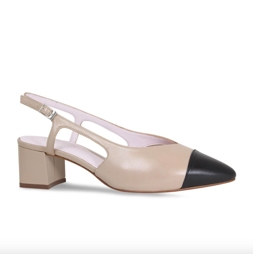 Wedding Guest Shoes leather slingbacks