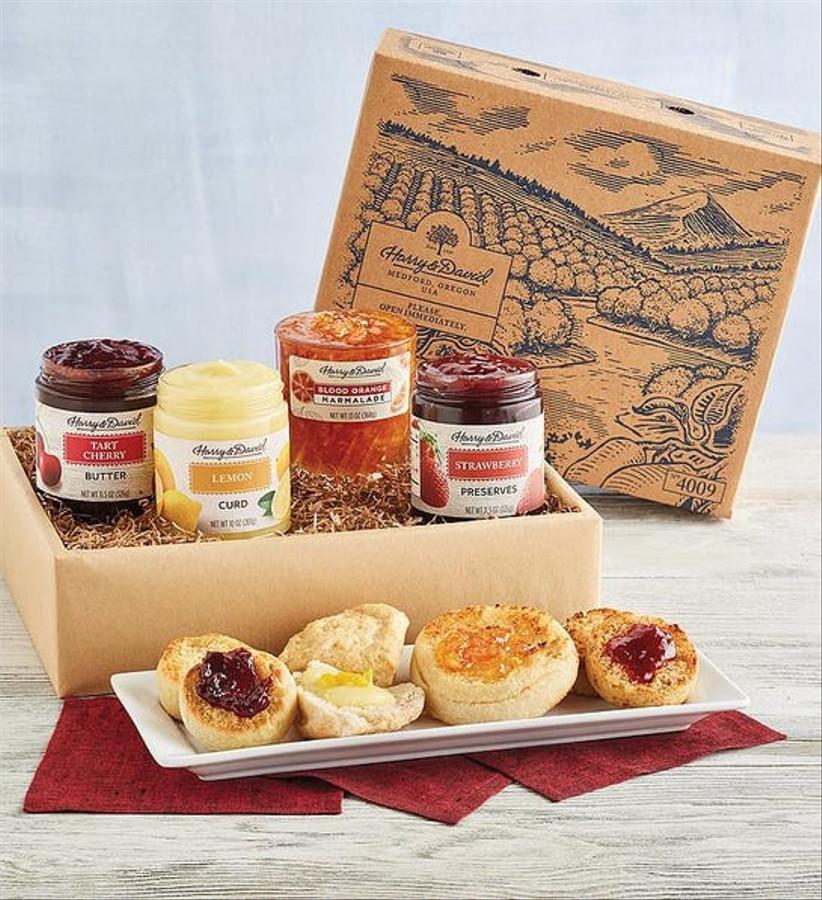 box of jams and jellies
